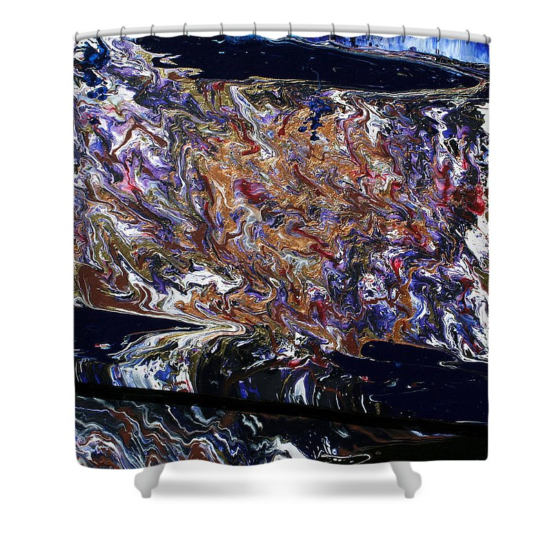 Fusionart Shower Curtain featuring the painting Revolution by Ralph White