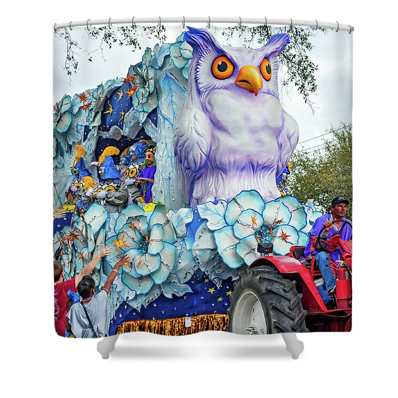 New Orleans Shower Curtain featuring the photograph Rex Mardi Gras Parade Iv by Steve Harrington