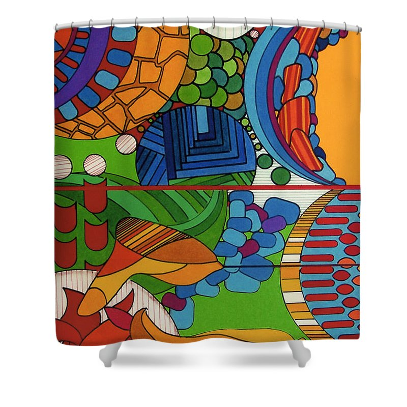 Sky High Shower Curtain featuring the drawing Rfb0515 by Robert F Battles