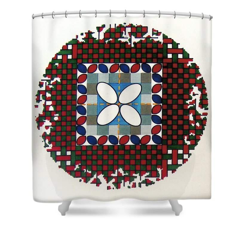 Shower Curtain featuring the drawing Rfb0556 by Robert F Battles