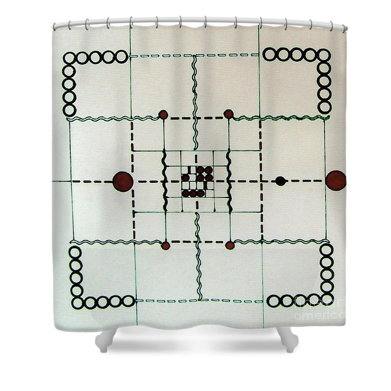 Accurate Design Shower Curtain featuring the drawing Rfb0558 by Robert F Battles