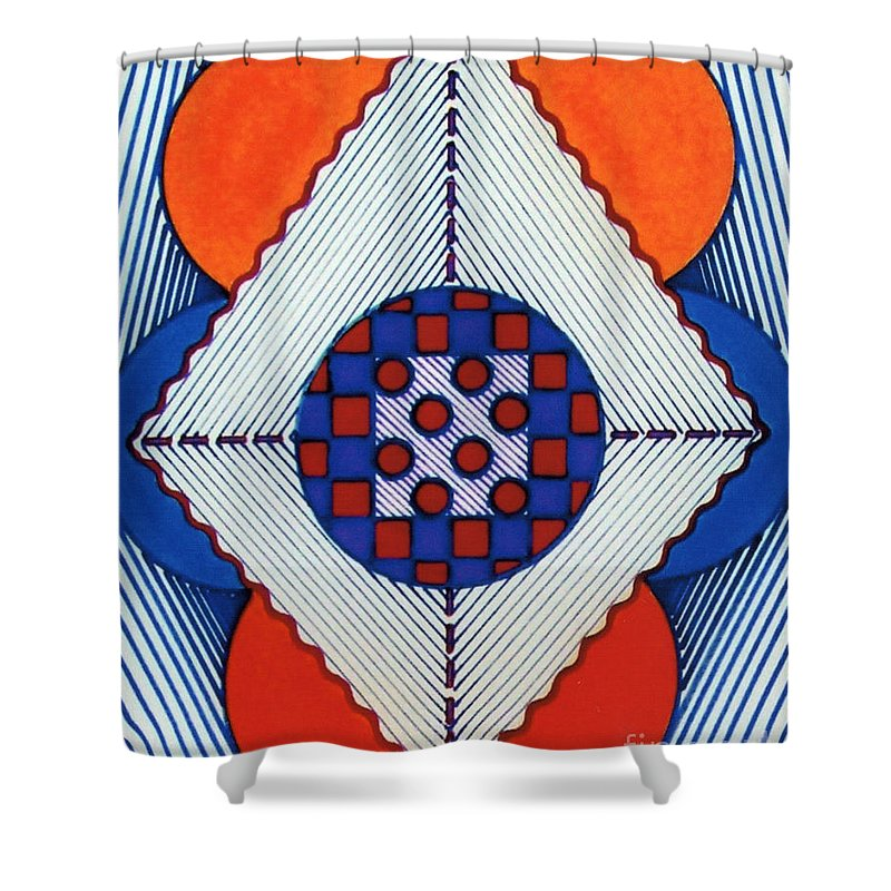 Hypno Shower Curtain featuring the drawing Rfb0576 by Robert F Battles