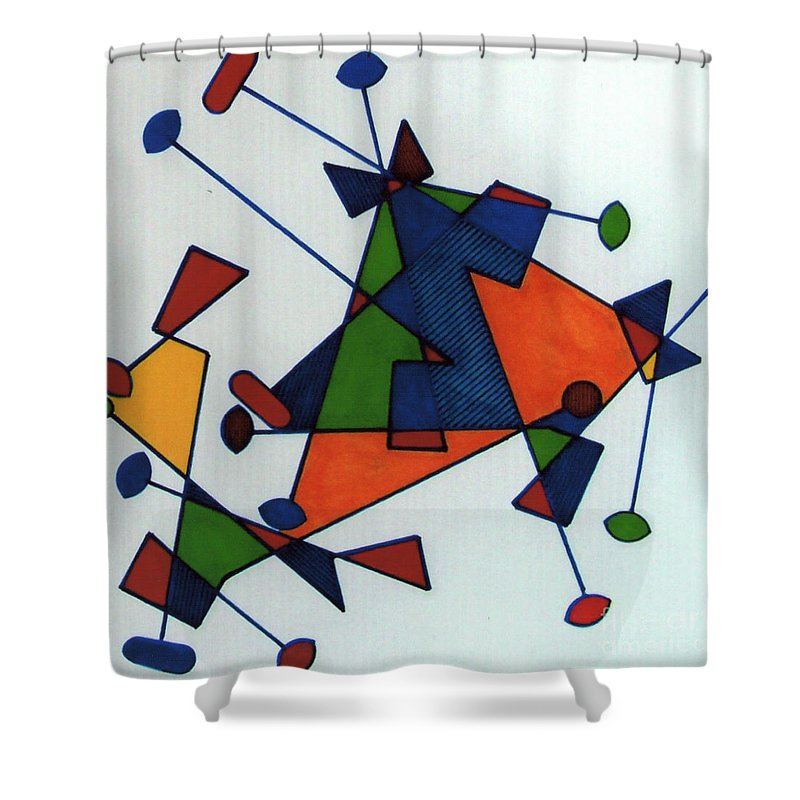 Color Movement Shower Curtain featuring the drawing Rfb0586 by Robert F Battles