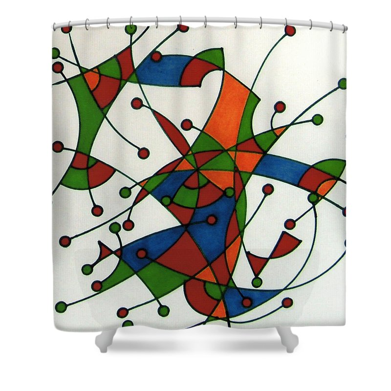 Target Practice Shower Curtain featuring the drawing Rfb0589 by Robert F Battles