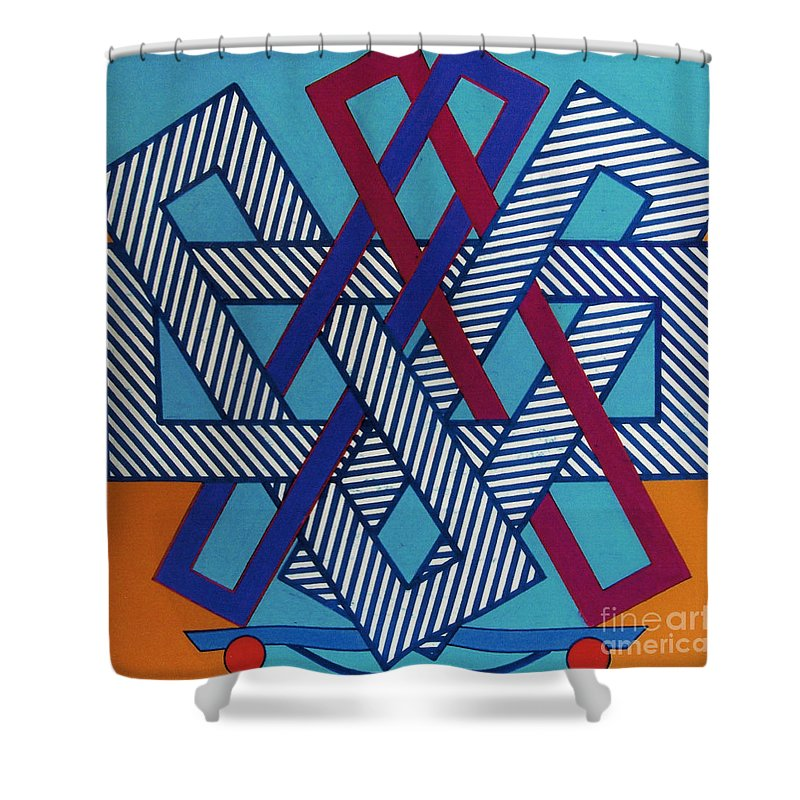 Skate Away Shower Curtain featuring the drawing Rfb0610 by Robert F Battles