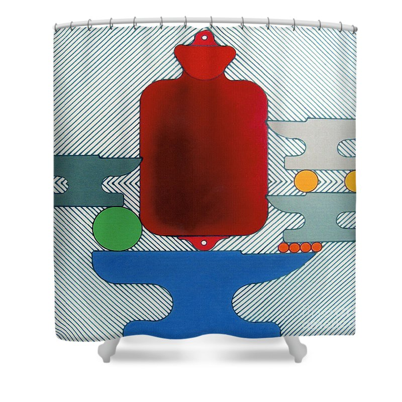 Abstract Shower Curtain featuring the drawing Rfb0929 by Robert F Battles