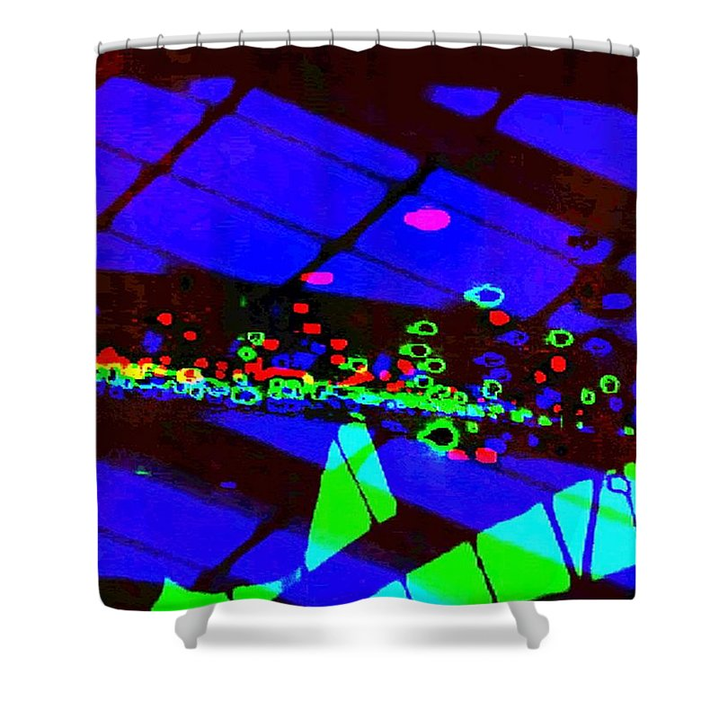 Art Digital Art Shower Curtain featuring the digital art Rgb3b - York by Alex Porter
