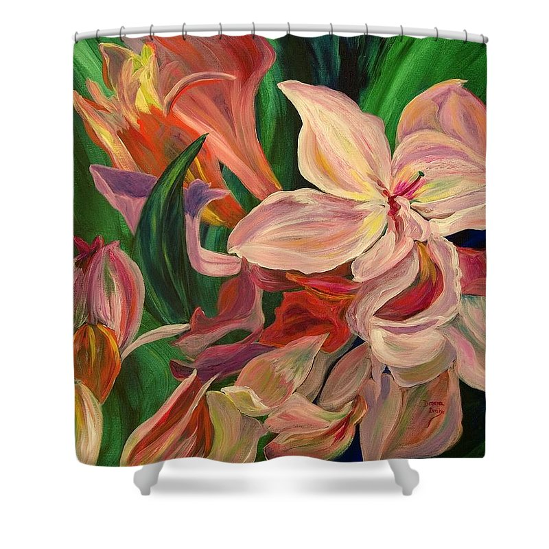 Rhododendron Shower Curtain featuring the painting Rhododendron by Donna Drake