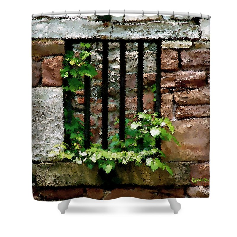 American History Shower Curtain featuring the digital art Rhus Radicans Triumphant by RC DeWinter