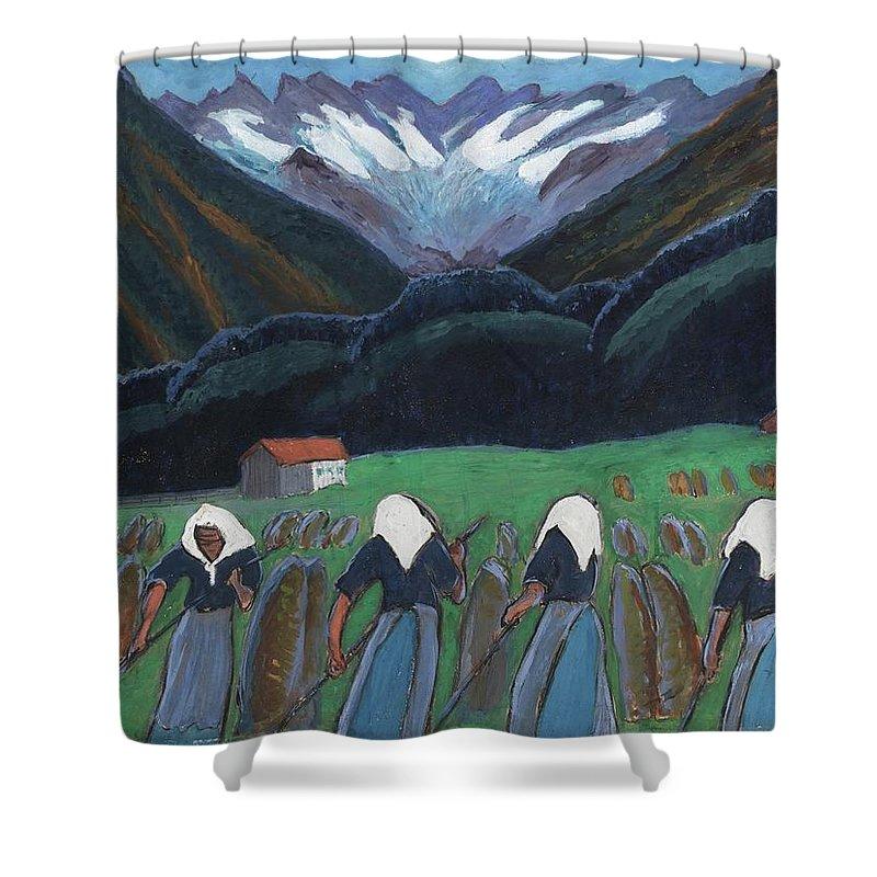 Marianne Werefkin 1860 - 1938 Rhythms (rhythms) Shower Curtain featuring the painting Rhythms by Marianne