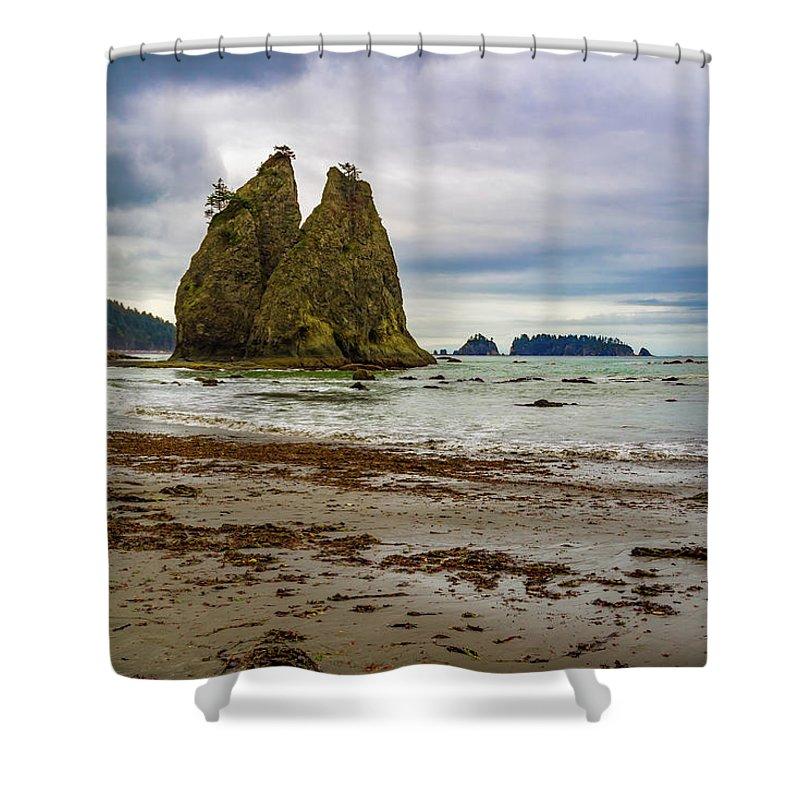 Beach Shower Curtain featuring the photograph Rialto Beach by Roslyn Wilkins