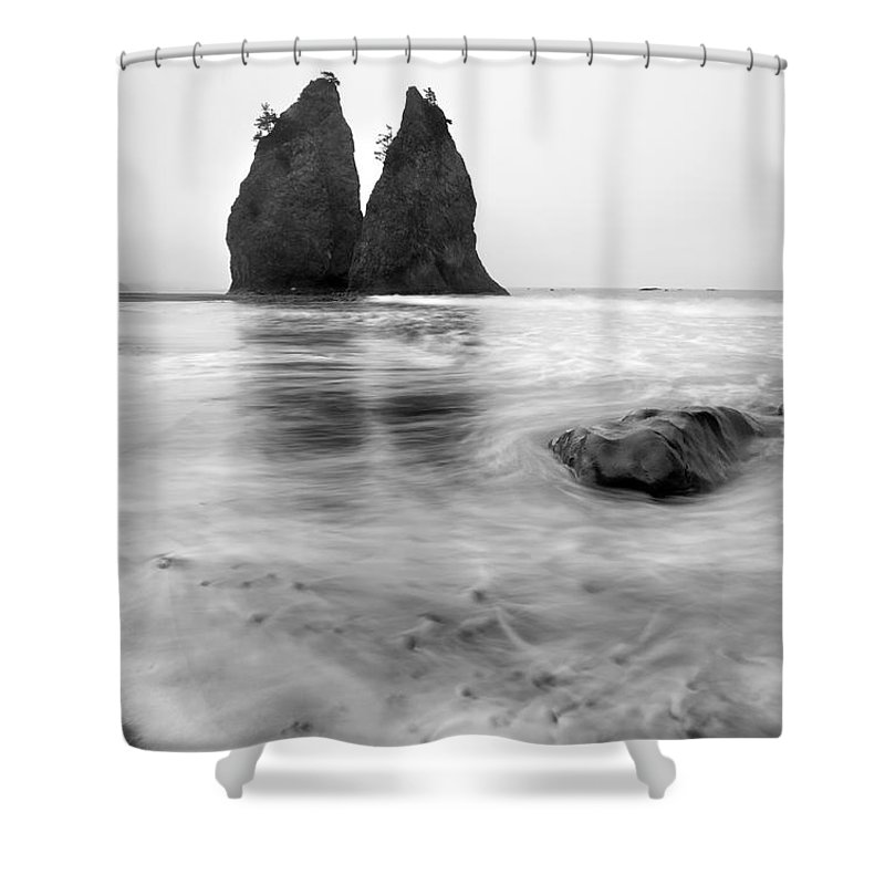 Beach Shower Curtain featuring the photograph Rialto Reflections by Mike Dawson