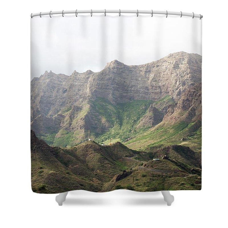 Landscape Shower Curtain featuring the photograph Ribeira Brava by Alexander Manykin