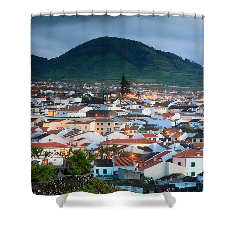 Europe Shower Curtain featuring the photograph Ribeira Grande At Nightfall by Gaspar Avila