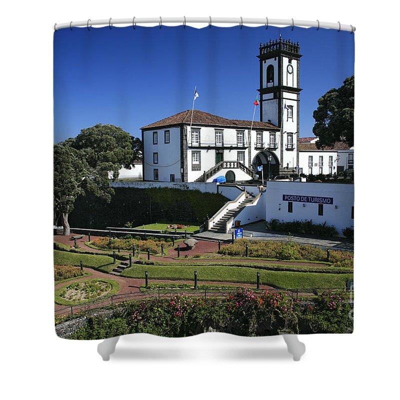 Facade Shower Curtain featuring the photograph Ribeira Grande Azores by Gaspar Avila