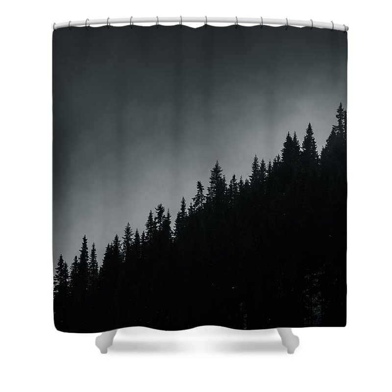 Trees Shower Curtain featuring the photograph Ridgeline by Mike Agentis