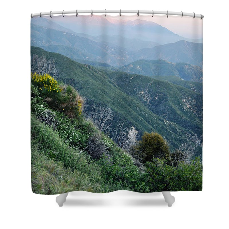 Rim Of The World Shower Curtain featuring the photograph Rim O' The World National Scenic Byway II by Kyle Hanson