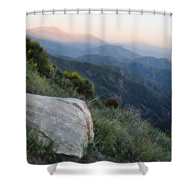 Rim Of The World Shower Curtain featuring the photograph Rim O' The World National Scenic Byway by Kyle Hanson
