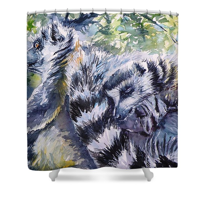 Ring-tailed Lemur Shower Curtains