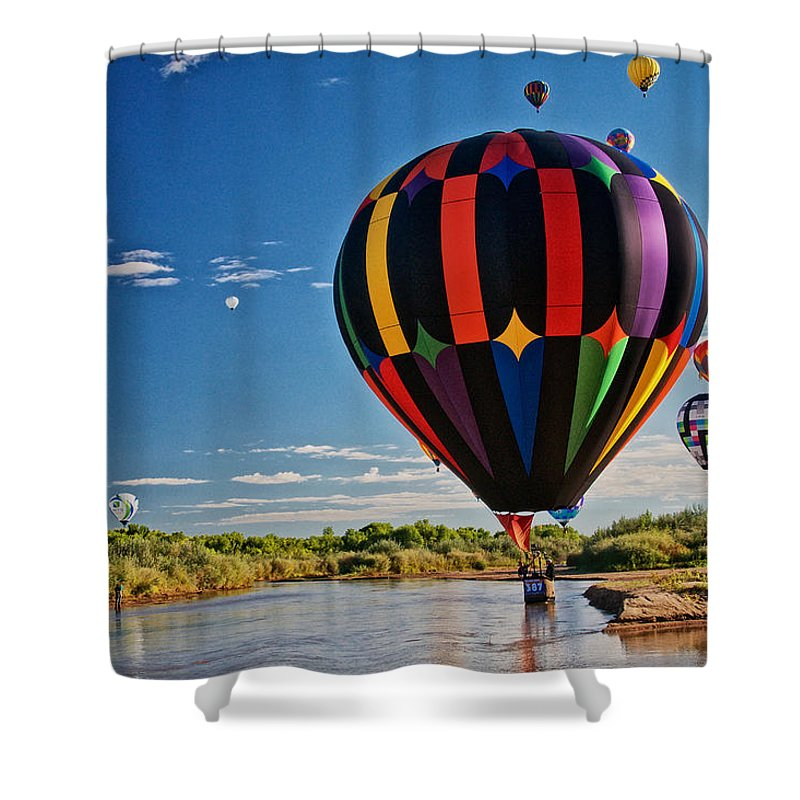 Nature Shower Curtain featuring the photograph Rio Grande Splash Down, New Mexico by Zayne Diamond Photographic