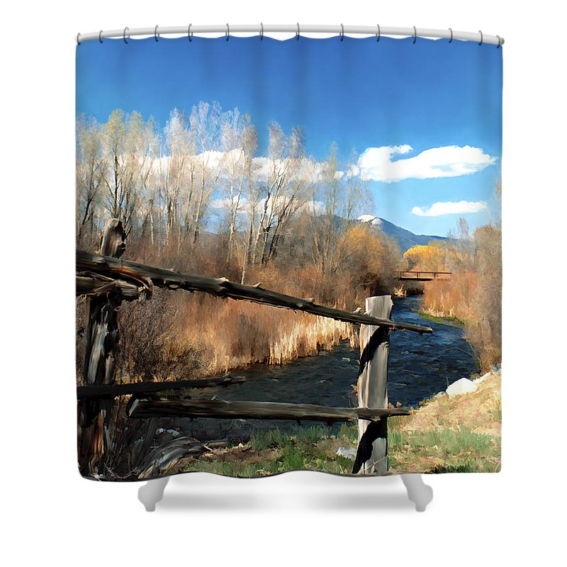 River Shower Curtain featuring the photograph Rio Pueblo by Kurt Van Wagner