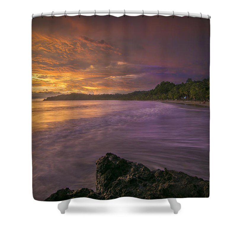 Costa Rica Shower Curtain featuring the photograph Rip Tide by Jeremy Jensen