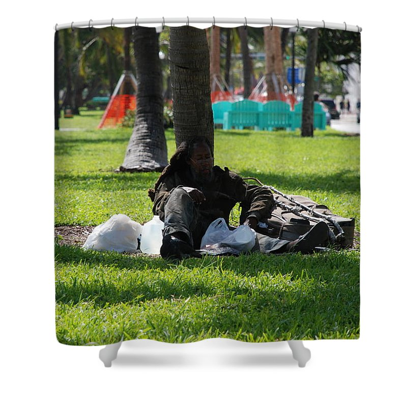 Urban Shower Curtain featuring the photograph Rip Van Winkle by Rob Hans