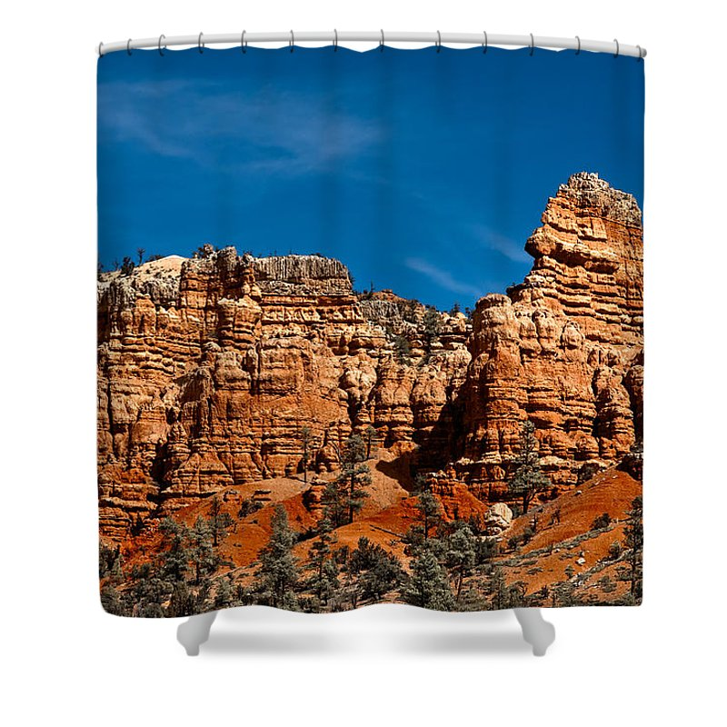 Art Shower Curtain featuring the photograph Rippled Walls by Christopher Holmes