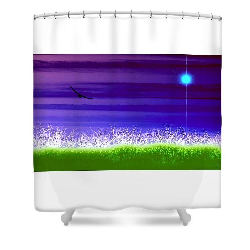 Landscape Shower Curtain featuring the photograph Rise Above by Holly Kempe