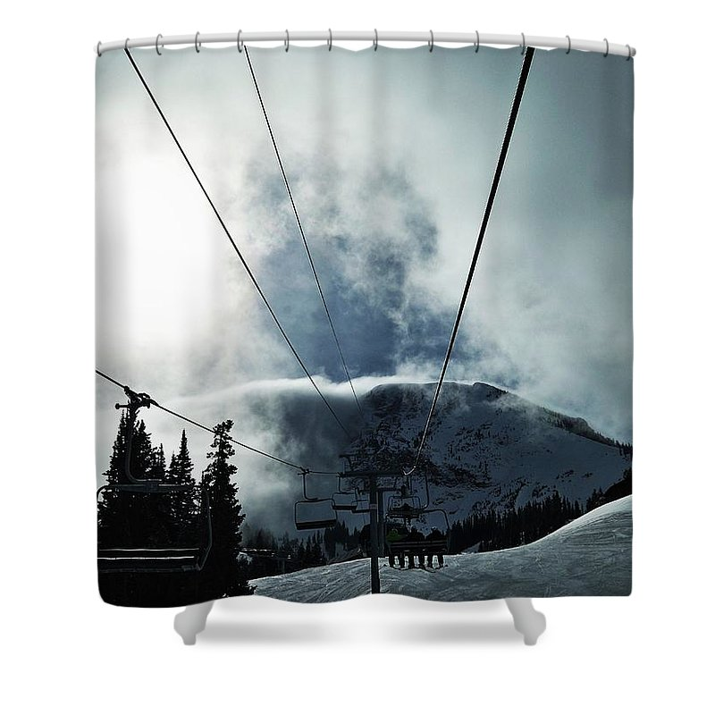 Landscape Shower Curtain featuring the photograph Rise To The Sun by Michael Cuozzo