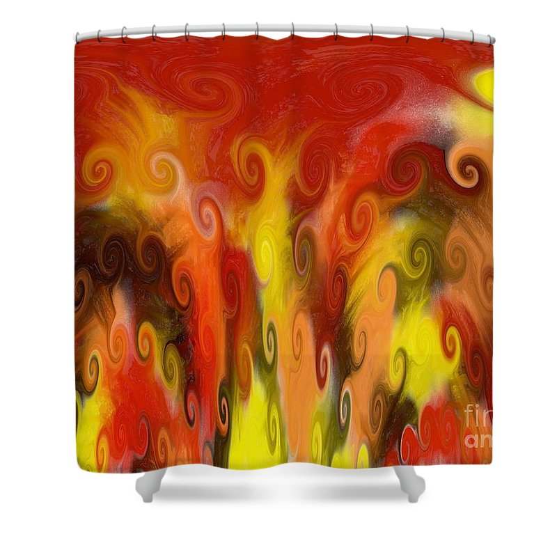 Fall Colors Shower Curtain featuring the painting Rise Up by Rabecca Primeau