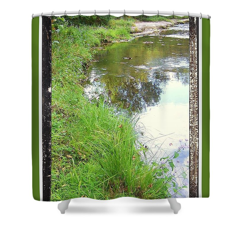 Shower Curtain featuring the photograph River Bend by Shirley Moravec