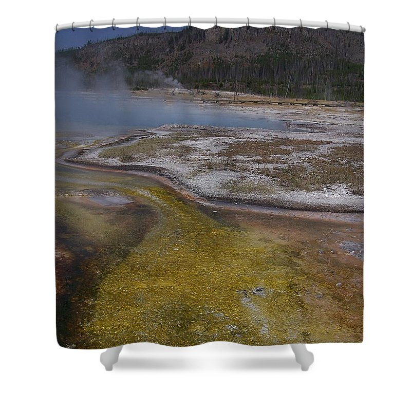 Geyser Shower Curtain featuring the photograph River Of Gold by Gale Cochran-Smith