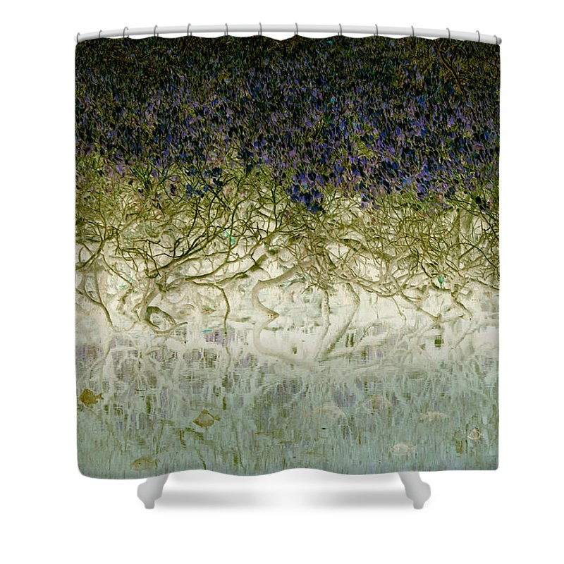 Landscapes Shower Curtain featuring the photograph River Of Life by Holly Kempe