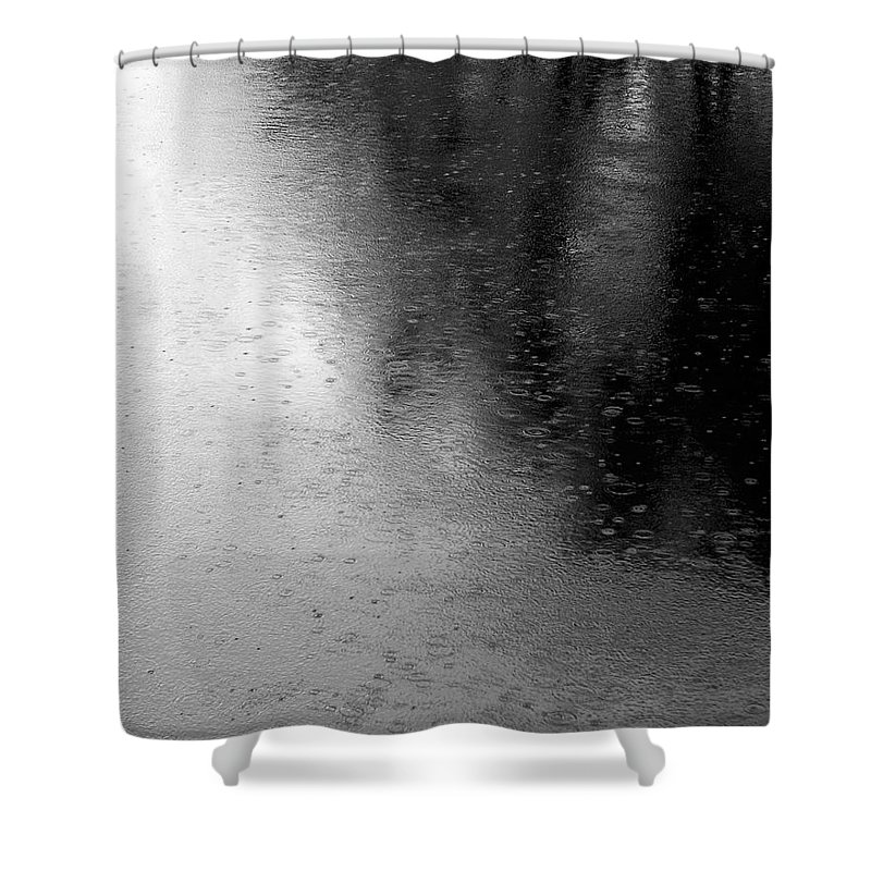 River Shower Curtain featuring the photograph River Rain Naperville Illinois by Michael Bessler