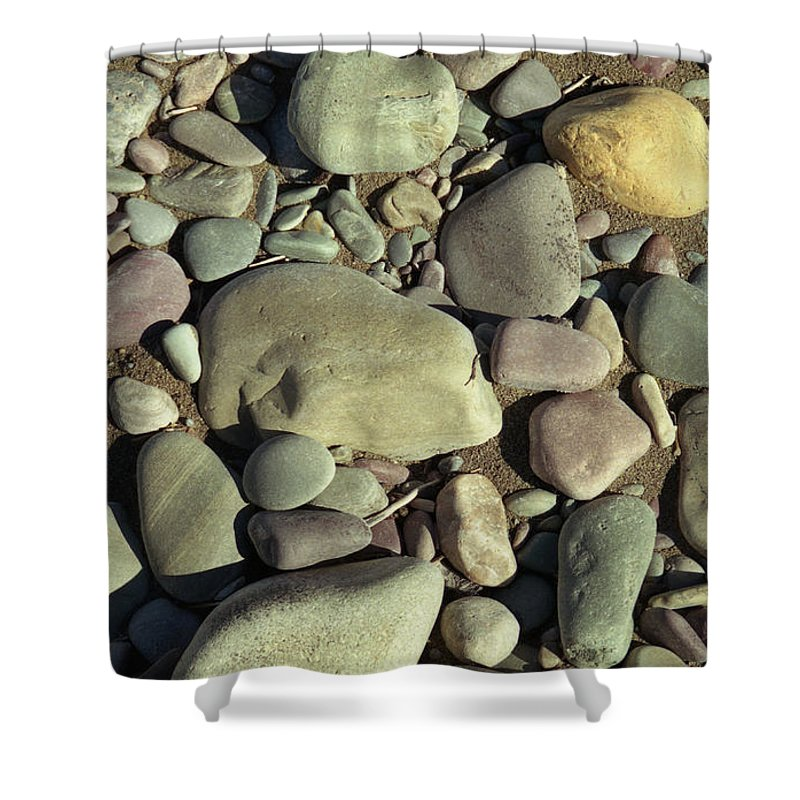 River Rock Shower Curtain featuring the photograph River Rock by Richard Rizzo