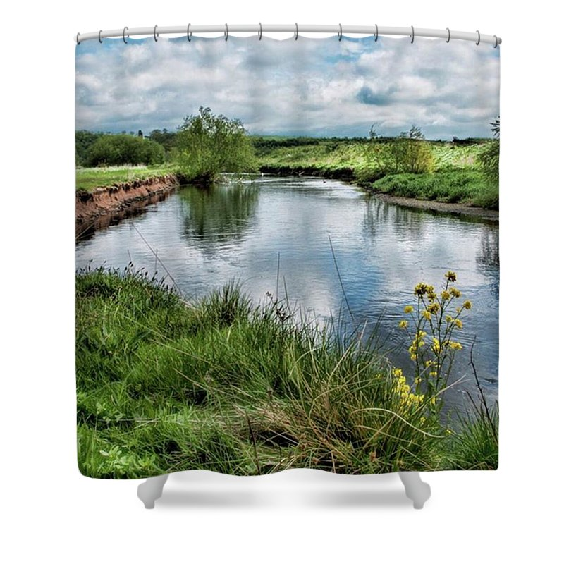 Nature_perfection Shower Curtain featuring the photograph River Tame, Rspb Middleton, North by John Edwards