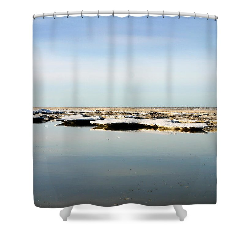 Ocean Shower Curtain featuring the photograph River To The Arctic Ocean by Anthony Jones