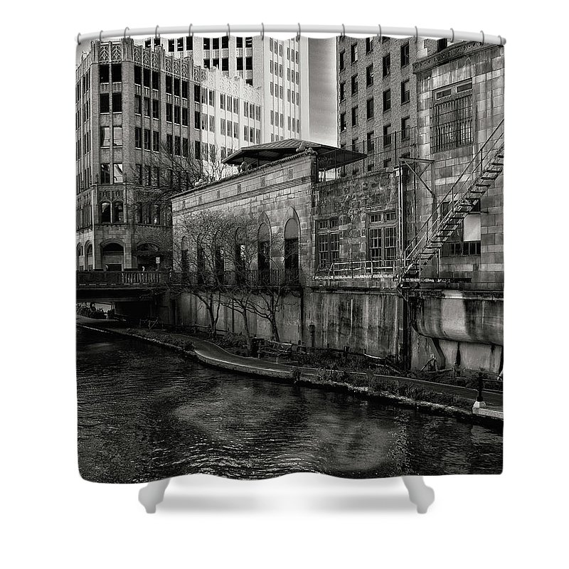 Architecture Shower Curtain featuring the photograph River Walk by Brandon LeValley