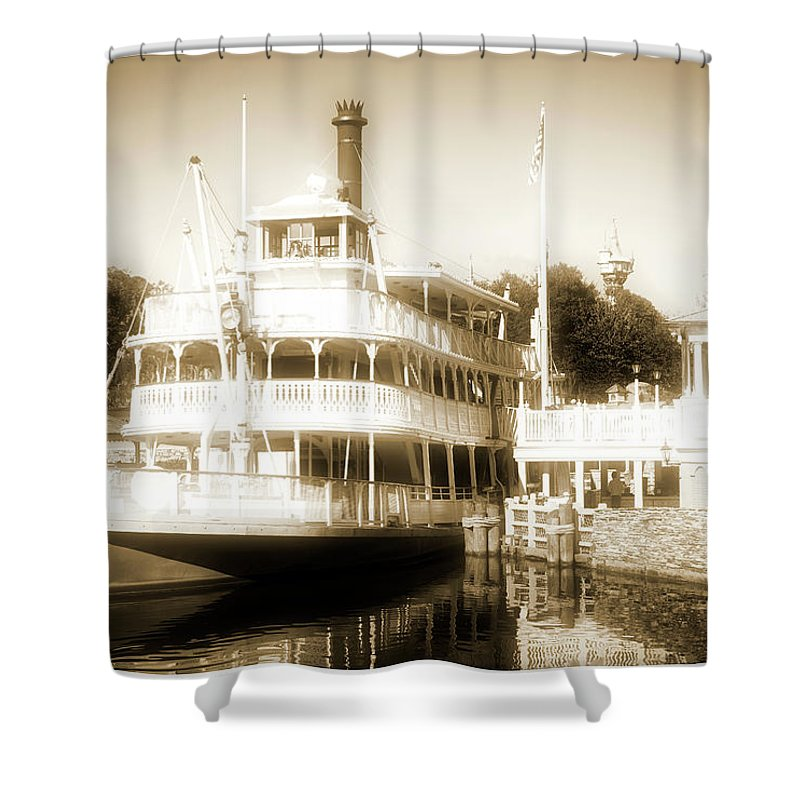 Riverboat Shower Curtain featuring the photograph Riverboat, Liberty Square, Walt Disney World by A Gurmankin