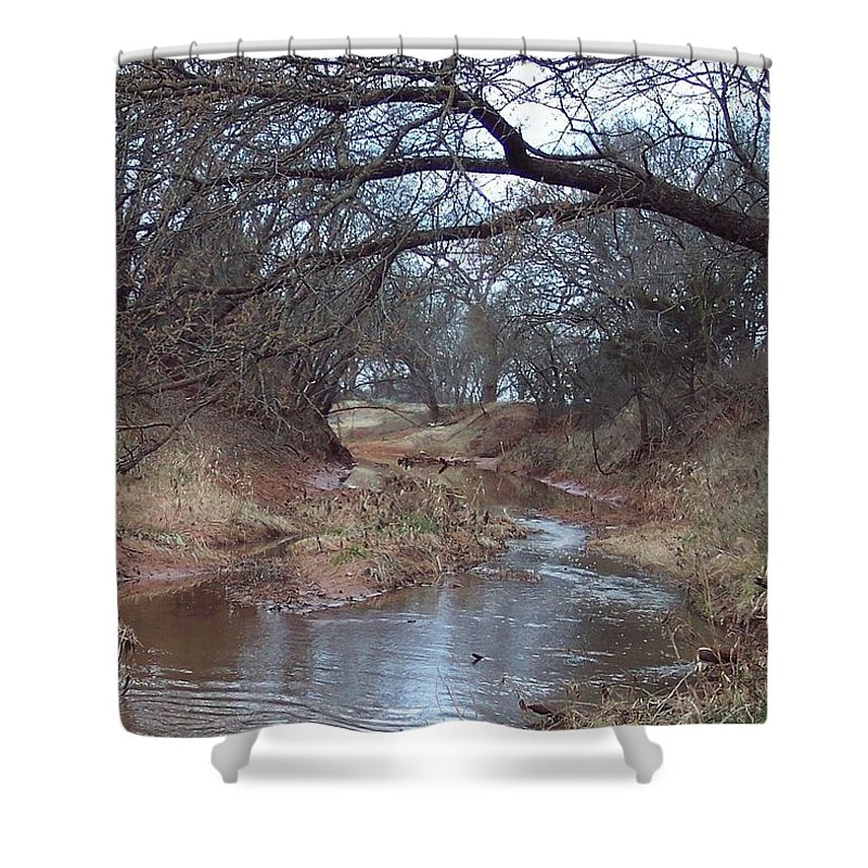 Landscapes Shower Curtain featuring the photograph Rivers Bend by Shari Chavira