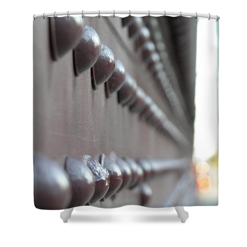 Rivets Shower Curtain featuring the photograph Rivets by Diane Greco-Lesser