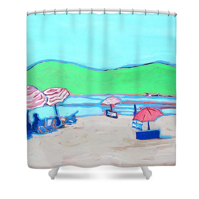 Seashore Shower Curtain featuring the painting Riviera by Kurt Hausmann