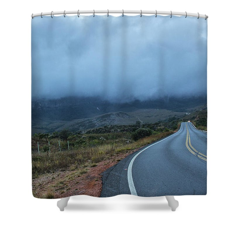 Road Shower Curtain featuring the photograph Road by James Conway