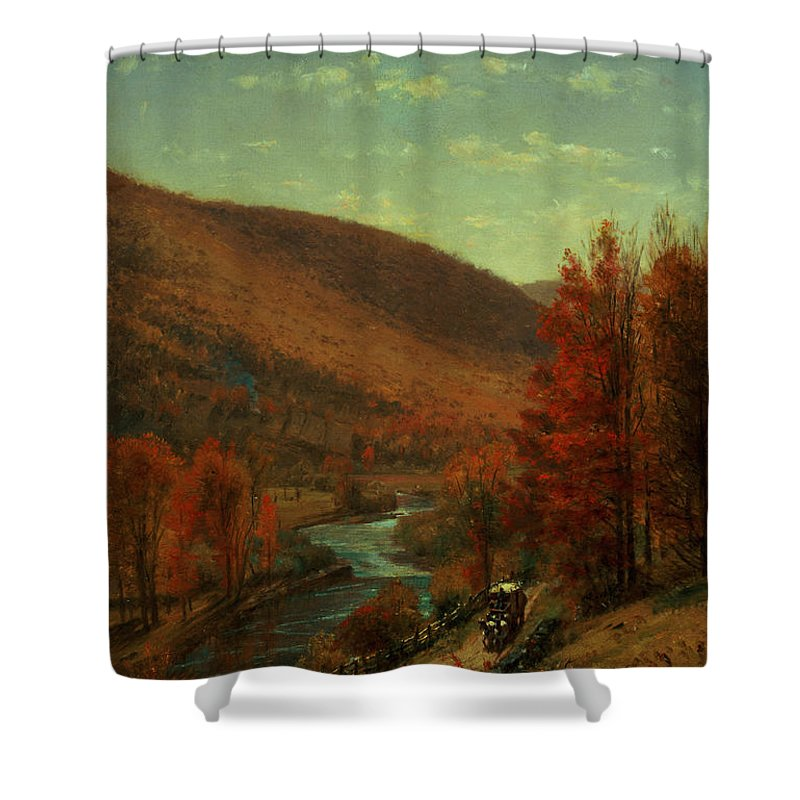 Thomas Worthington Shower Curtain featuring the painting Road Through Belvedere by Thomas Worthington