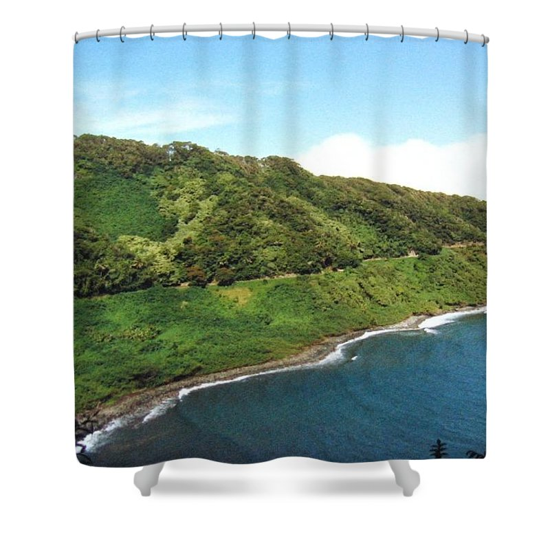 1986 Shower Curtain featuring the photograph Road To Hana by Will Borden