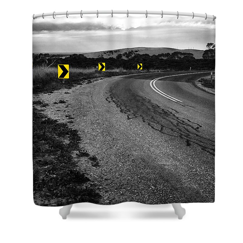 Road Shower Curtain featuring the photograph Road To Nowhere by Kelly Jade King