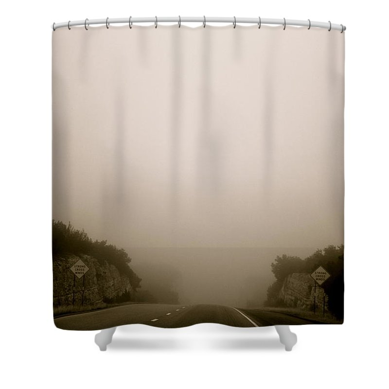 Landscape Shower Curtain featuring the photograph Roadtrip 13 by Meagan Paxton