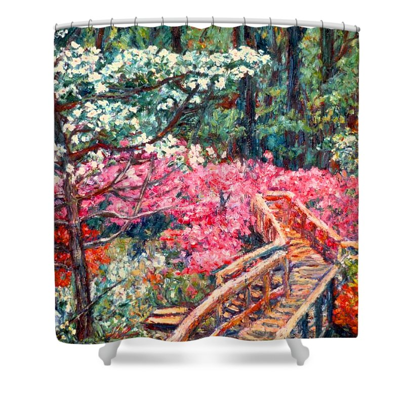Garden Shower Curtain featuring the painting Roanoke Beauty by Kendall Kessler