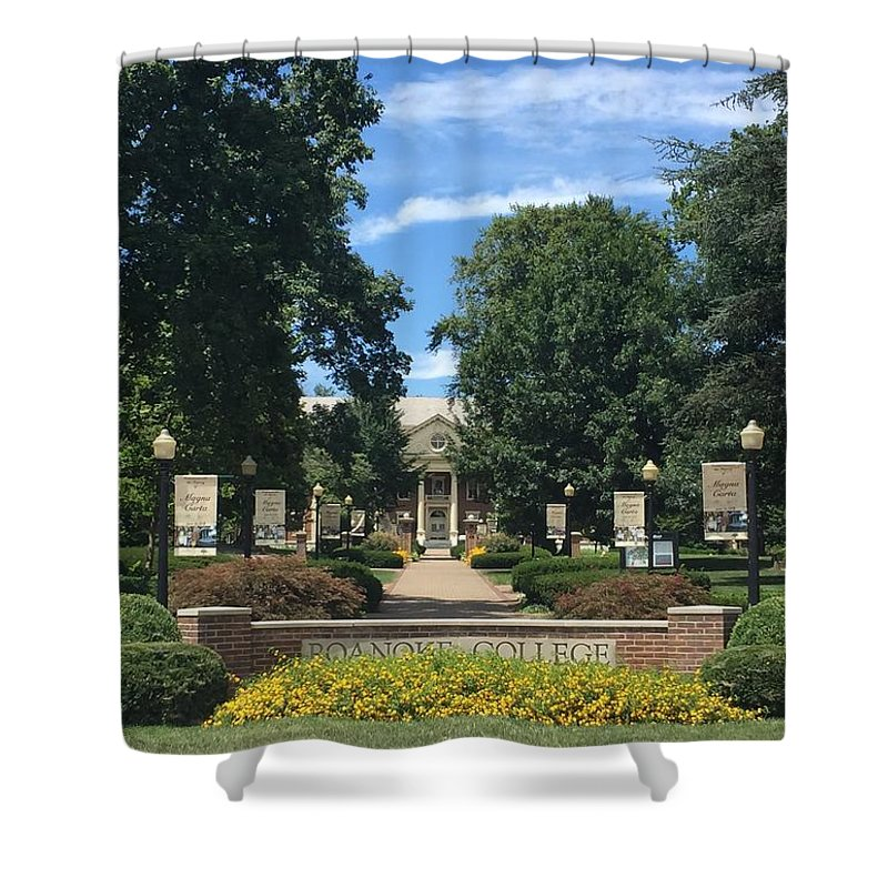 Roanoke College Shower Curtain featuring the photograph Roanoke College 2 by Andrew Webb